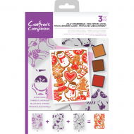 Jolly Gingerbread Christmas Layering Background Stamps