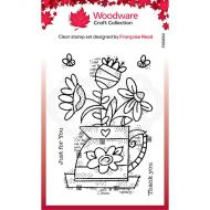 Woodware Jug of Flowers Clear Stamp Set