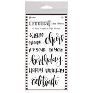 Ranger Letter It Birthday Clear Stamp Set