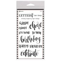 Ranger Letter It Birthday Clear Stamp Set