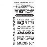Level Up Computer Game Sentiments Clear Stamp Set