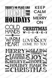 Merry On Christmas Messages Clear Stamp Set