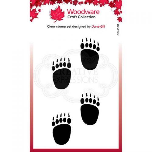 Mini Polar Bear Paw Prints Clear Stamp