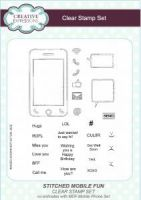 Stitched Mobile Fun Clear Stamp Sett