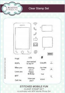 Stitched Mobile Fun Clear Stamp Set