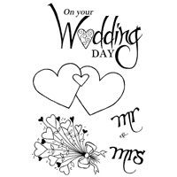 Wedding Hearts Clear Stamp