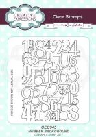 Number Background Clear Stamp