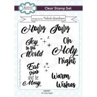 Oh Holy Night Christmas Sentiment Clear Stamp Set