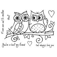 Owl Love Clear Stamp