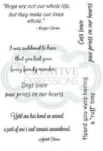 Paw Prints on your Heart Clear Stamp Set