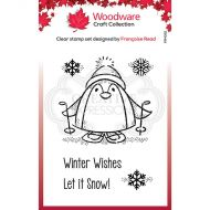 Woodware Peter Penguin Clear Stamp Set