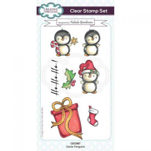 Santa Penguins Clear Stamp Set