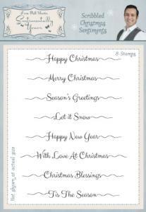 Scribbled Christmas Sentiment Stamp Set