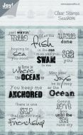 Seashore Sentiments Clear Stamp Set