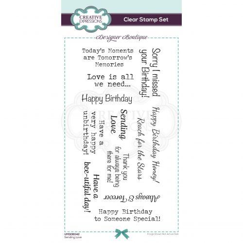 Sending Love Clear Stamp Set