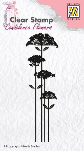 Silhouette Flower Stems Clear Stamp