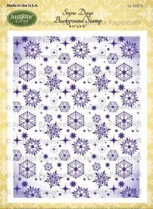 Snowflake Cling Background Stamp