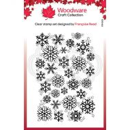 Woodware Snowflake Flurry Clear Stamp Set