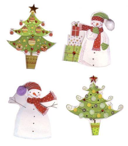 Pompom Snowmen Christmas Die Cut Embellishments