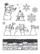 Snowman Street Clear Stamp