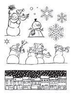 Snowman Street Clear Stamp