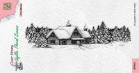 Idyllic Scenes Snowy House Clear Stamp