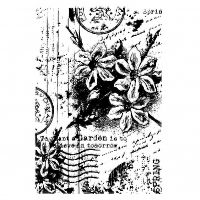 Spring Collage Clear Background Stamp