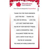 Woodware Thoughtful Strips Clear Stamp Set