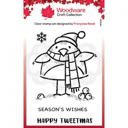 Woodware Tweetmas Robin Clear Stamp Set