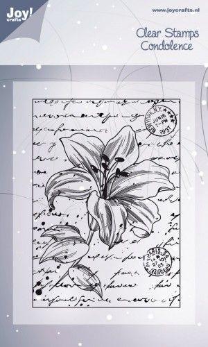 Vintage Lily Background Stamp