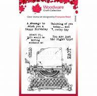 Vintage Typewriter Clear Stamp Set