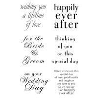 Wedding Words Clear Stamp Set