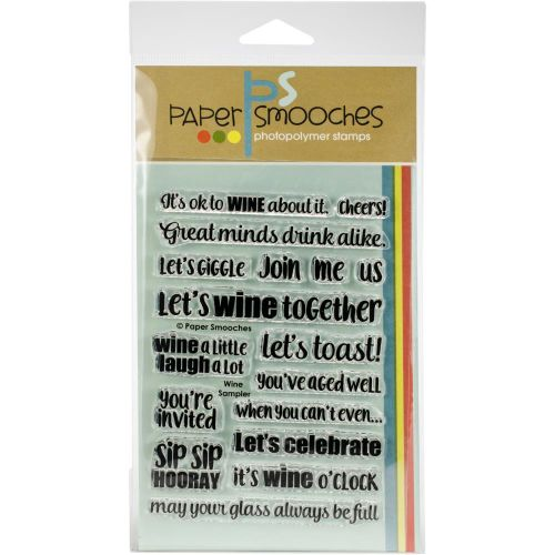 Wine Phrases Clear Stamp Set