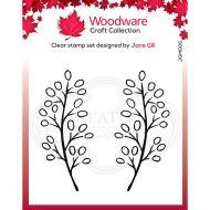 Woodware Carla Leaf Stamp Set