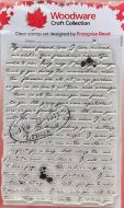 Woodware Old Letter Clear Background Stamp