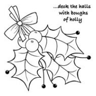 Woodware Sprig of Holly Clear Stamp Set