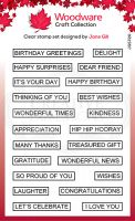 Word Fragments Sentiments Clear Stamp Set