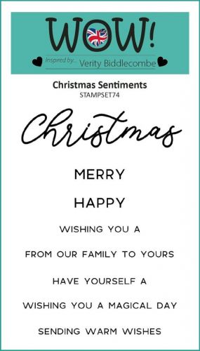 WOW Christmas Sentiments Clear Stamp Set