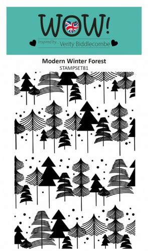 WOW Modern Winter Forest Clear Background Stamp