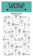 WOW Sparkling Present Background Stamp