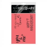 You and Me Anniversary Sentiment Clear Stamp Set