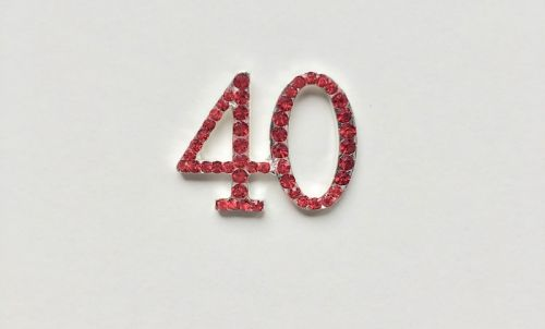 Crystal Number 40 Red