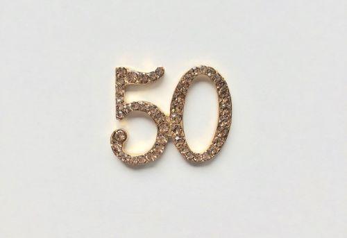 Crystal Number 50 Gold