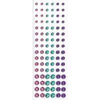 Self Adhesive Crystals Pink Turquoise Purple