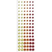 Self Adhesive Crystals Yellow Orange Red