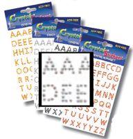 Crystal Block Alphabet Clear