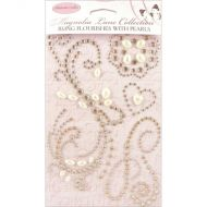 Self Adhesive Crystal Fourishes with Pearls