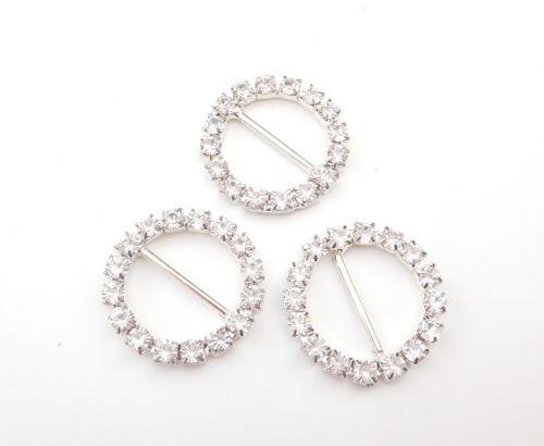 2.5cm Diamante Buckle Sliders