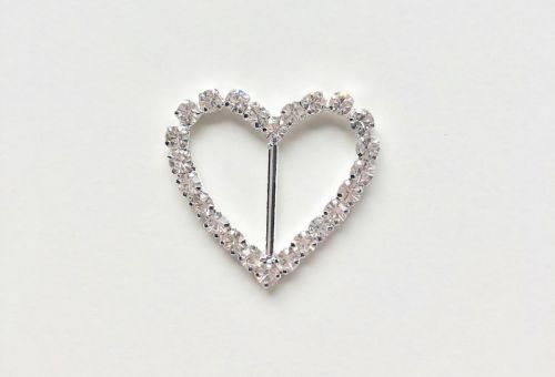 Diamante Buckle Slider Heart Shaped