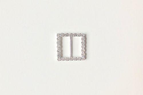 Diamante Buckle Slider Square